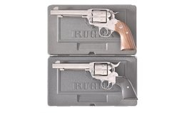 Two Cased Ruger Single Action Revolvers