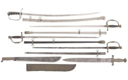 Group of Six Assorted Edged Weapons