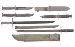 Group of Five Assorted Military Edged Weapons