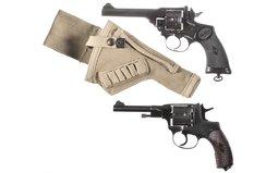 Webley Mark IV Revolver and Izhevsk Arsenal Nagant Revolver