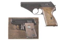 Mauser HSc Pistol And Colt .25 Auto Pistol