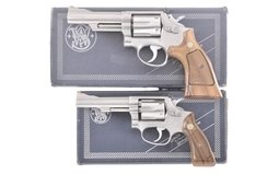 Two Smith & Wesson - 66 Revolers With Box