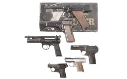 Stoeger Luger Pistol with Box And 5 Pistols