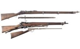 Steyr Model 1886, Enfield No. 4 MK I And Quackenbush  Rifle