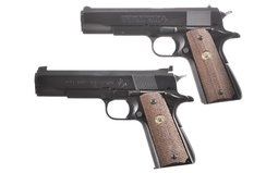 Colt Government Model MK IV Series 70 And Colt Ace 22 Pistol