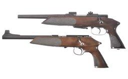 Two Anschutz Bolt Action Pistols