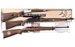Taurus Model 63, Remington Nylon 66 And Ruger 10/22 Anniversary