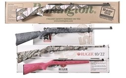 Four Rifles Remington 597 And Three Ruger 10/22 Models