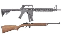 Two Rifles Mossberg Model 715T And Marlin 989 M2