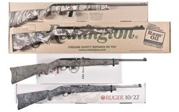 Four .22 Cal Rifles, Savage 64, Remington 597, Two Ruger 10/22