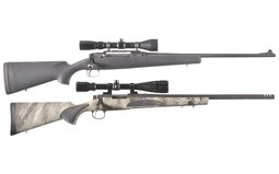 Two Rifles with Scopes Savage 110 And Remington 700 VTR