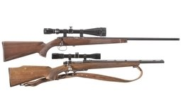 Two Remington Bolt Action Rifles with Scopes
