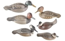 Group of Six Duck Decoys Signed by Armand J. Carney