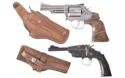 Two Smith & Wesson Hand Guns