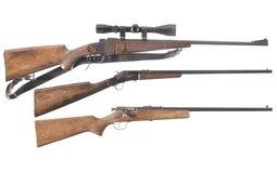 Three Single Shot Rifles
