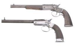 Two Stevens Single Shot Pistols