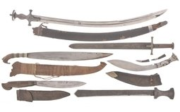 Six Assorted Edged Weapons
