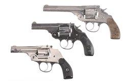 Three Top Break Double Action Revolvers