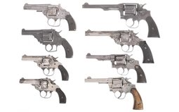 Eight Double Action Revolvers