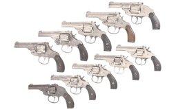 Ten Harrington & Richardson Double Action Revolvers