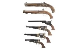 Six Contemporary Percussion Handguns