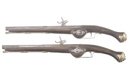 Two Reproduction Wheelock Pistols
