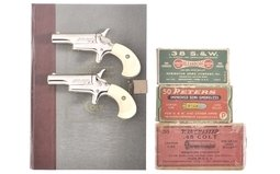 Cased Set of Two Colt Fourth Model Derringers