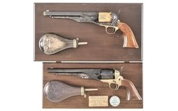 Two Cased Model 1860 Percussion Revolvers