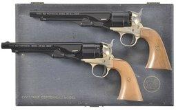 Cased Pair of Colt Commemorative Single Shot Pistols
