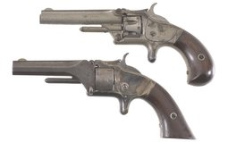 Two Smith & Wesson Spur Trigger Revolvers