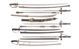 Seven Assorted Swords