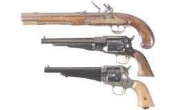 Three Reproduction Pistols