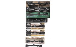 Group of Eight Assorted Rifle Scopes