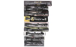 Group of Nine Assorted Rifle Scopes