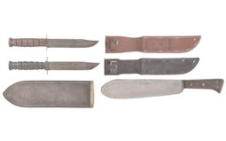 Three U.S. Military Style Fighting Knives