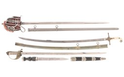 Four British Style Edged Weapons