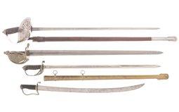 Four British Style Swords