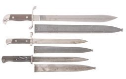Group of Three Assorted Edged Weapons
