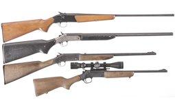 Four Single Shot Long Guns