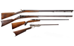 Four Long Guns -A) Unmarked Percussion Musket