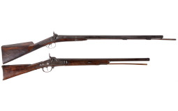 Two Antique Percussion Long Guns