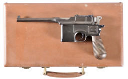 Mauser Broomhandle Semi-Automatic Pistol With Case