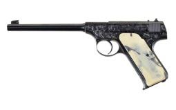Engraved Colt Pre-Woodsman Semi-Automatic Pistol