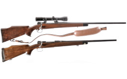 Two Mauser Style Bolt Action Rifles
