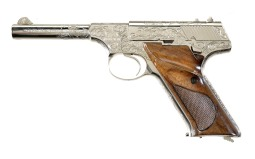 Engraved Colt Huntsman Semi-Automatic Pistol