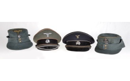 Four Reproduction Nazi-Style Hats
