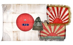Group of Japanese Flags and Memorabilia