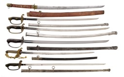 Five Asian Style and One Calvary Style Sword