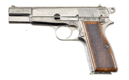 Engraved Fabrique National High Power Semi-Automatic Pistol