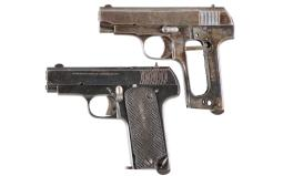 Two Spanish Semi-Automatic Pistols